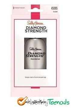 SALLY HANSEN DIAMOND STRENGTH INSTANT NAIL HARDENER #hardener #nail #sallyhansen #strength Nail Hardener, Sally Hansen, Toe Nails, Strength, Diamond, Feet Nails, Toenails, Toe Polish, Diamonds