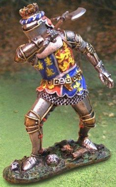 Medieval Knights & Saracens CS00598 English King Henry the V - Made by The Collectors Showcase Military Miniatures and Models. Factory made, hand assembled, painted and boxed in a padded decorative box. Excellent gift for the enthusiast.