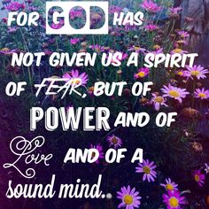 || 2 Timothy 1:7 ||