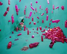 """Young Korean artist Jee Young Lee recently presented her beautiful, surrealistic and Photoshop-free photography exhibition named """"Stage of Mind"""". The magic happens in the artist's small 3,6 x 4,1 x 2,4-meter studio in Seoul. The artist builds these highly dramatic, psychedelic and visually intense scenes herself, ensuring that every teeny tiny detail is hauntingly perfect and leaves the viewer in awe."""