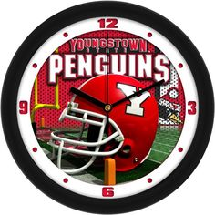 NCAA Youngstown State Penguins-Football Helmet Wall Clock