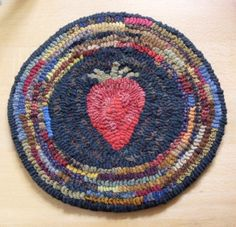 Primiive Folkart French Country Strawberry Hit of by Rue23Paris