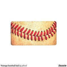 Vintage baseball ball label