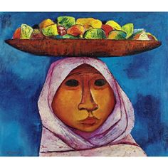 """Frutera"" by Eduardo Kingman from Zaruma, Ecuador (1013-1997)"