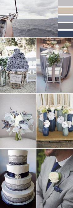 grey wedding color ideas for 2017 trends #weddingcenterpieces