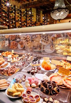 Lucca Sweets  A selection of pasteries, desserts and wines from a deli in Lucca, Italy.