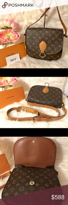 """Authentic Louis Vuitton St Cloud GM bundles for discounts or feel free to make an offer  Has 1 pockets outside for easy access. excellent pre-owned condition  no rips or tears on canvas, has glazing on the side corners has wears, hairline cracks, scuffs on shoulder strap and side canvas minor stain inside no peelings no stickyness on pocket no odor Smoke free pet free home Made in France Datecode: 882 VI 9""""w x 10""""h x 4""""d Strap drop approx: 18"""" Louis Vuitton Bags Satchels"""