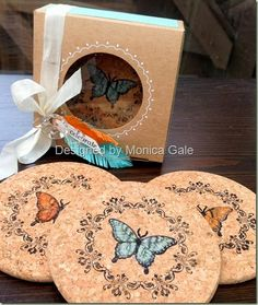 STAMPIN'UP! UK- Top UK Demonstrator Monica Gale-01405 862902-DN14 9QZ: A box of coasters…