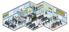 Ultra Electronics ID: Isometric Website Illustrations on Behance