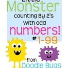These cute little monster cards are great practice for skip counting by 2's with odd numbers! Great for pocket charts but can easily be used on...