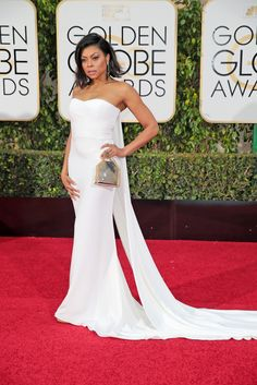 Taraji P. Hanson in Stella McCartney.  Check out the red carpet style from the biggest awards show (so far) of 2016.