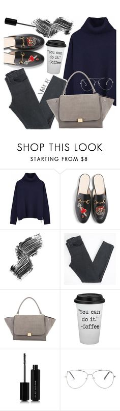 """""""Easy like Sunday Morning"""" by bellanabsxo ❤ liked on Polyvore featuring Ille De Cocos, Gucci, Illamasqua, Acne Studios, CÉLINE, Marc Jacobs and Rika"""