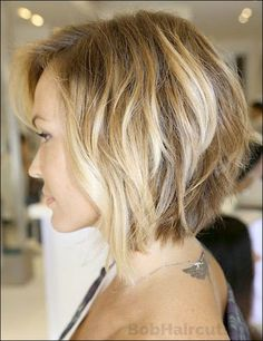 Blonde Bob Hairstyles For Round Faces #BlondeBob