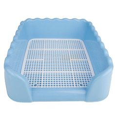 Eight24hours Indoor Pet Dog Puppy Potty Training Fence Tray Pad Pee Toilet - Blue L -- See this great product. (This is an affiliate link and I receive a commission for the sales)