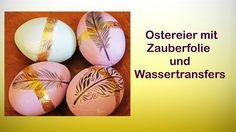 Kunsstoffeier mit Chalky-Farbe, Zauberfolie und Wassertransfers dekoriert Shop: http://www.lm-kreativ.de/ger_gam/index.php?refID=14