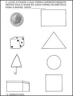 Para Casa Formas Geométricas Nara, Homeschooling, Christmas Activities, Fun Math Activities, Sight Word Activities, Kids Learning Activities, Initials, Apollo, School