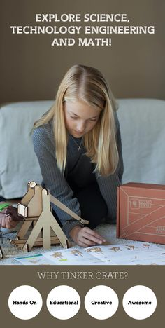 Is your child interested in STEM? Tinker Crate delivers seriously fun experiments like the Trebuchet every month! Our projects help kids build creative problem-solving skills - and have a lot of fun! Subscribe to Tinker Crate today and take 25% off your first month with code PINTEREST25.