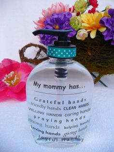 Hand Soap Dispenser  Our family has... by Justgetpampered on Etsy, $5.99