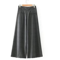 9f9115621db SheIn(sheinside) Checked Wide Leg Pants ( 28) ❤ liked on Polyvore featuring  pants