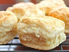 Southern Biscuits With Flour, Baking Powder, Baking Soda, Salt, Butter, Shortening, Buttermilk
