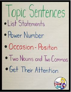 Topic sentence for advise to high school students?