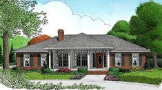 House Plan 96849 | Traditional Plan with 1698 Sq. Ft., 3 Bedrooms, 3 Bathrooms, 2 Car Garage