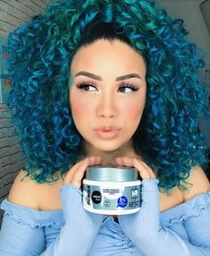 Dyed Curly Hair, Curly Hair Styles, Dyed Natural Hair, Colored Curly Hair, Natural Hair Styles, Hair Laid, Grunge Hair, Hair Painting, Love Hair