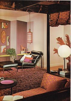 Mid Century Living Room - The World of Budget Decorating 1964