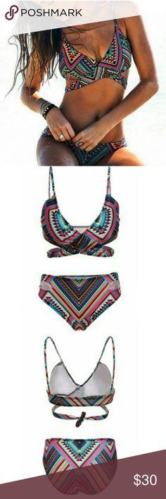 Aztec bikini Super cute Aztec bikini. Great for summer! Item as shown in photos above Swim Bikinis