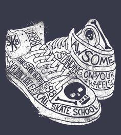 Emily Kiddy sneakers shoes skull skate