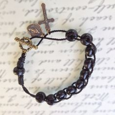 Wooden Rosary Bracelet - Handmade Rosary beads by Graceful Rosaries Catholic rosaries