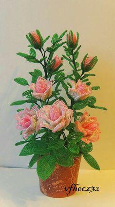 beaded rose bush