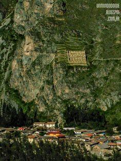 Ruinas del Imperio Inca en Ollantaytambo, Valle Sagrado, Cusco, Perú
