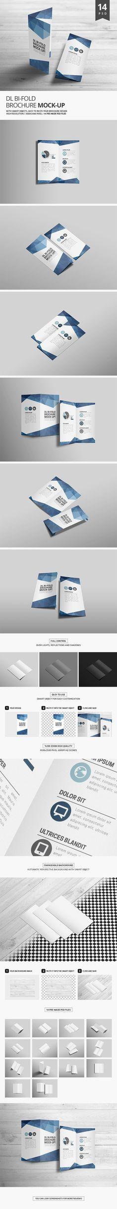 A4 Bi Fold Brochure Mockup Template bi fold mock ups Pinterest - half fold brochure template