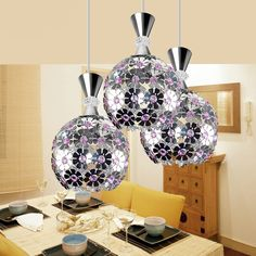 1/3 heads lamps living room pendant light aluminum brief applique flower dining room bar pendant lamps aisle lights FG729 #Affiliate