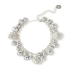 Pearl and Shamballa-Style Party Bracelet claires
