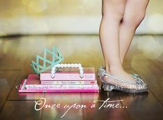 cute idea for a princess shoot-use Zoe's favorite books.