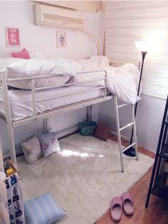 평범한 원룸에 로프트 침대를 설치해서 마치 복층 원룸처럼 변신했어요! 자세한 사항은 겸지야님 블로그에서 확인해주세요...