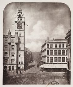 High Street, from the Cross, Glasgow, 1868
