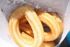 Churros from a street vendor at the Triana bridge in Seville, Spain. For more reviews from our trip to Spain, visit www.fabeveryday.com.