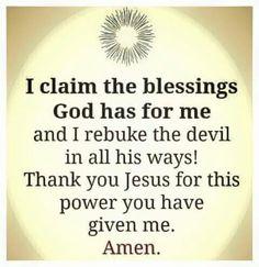 Rebuke the devil in all ways