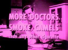 50s Camel Cigarettes commercial 1960s tumblr