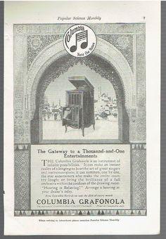 Vintage Original 1917  Columbia Grafonola by SwampYankeeAds