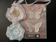 "SWEET INSPIRATION COLLAGE ""Sweet"" Butterflies Flowers by PaperPastiche on Etsy Butterfly Flowers, Butterflies, Paper Goods, Mixed Media Art, Artisan, Collage, Craft Ideas, Colors, Sweet"