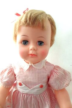 Adorable Vintage 19611964 Ideal Kissy Doll  I have one:)