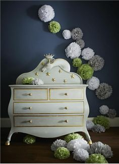 such as this stunning chest of drawers painted in Parma Gray with the backdrop of Farrow and Ball Hague Blue on the walls.Modern Country Style: Farrow and Ball Parma Gray: Colour Study Click through for details. Baby Furniture, Painted Furniture, Paper Wall Decor, Hague Blue, Modern Country Style, Interior And Exterior, Interior Design, Color Studies, Farrow Ball