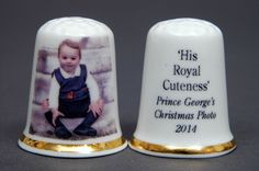 Prince George s Christmas Photo  His Royal Cuteness  China Thimble B/149