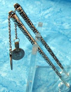 Sterling Silver Hair Sticks with Coin