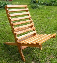 wooden folding chair plan | Civil War Folding Camp Chair Plan