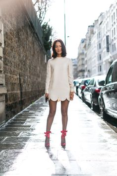 Paris Fashion Week Street Style Fall 2017 - Street Style at Paris Fashion Week 2017 Street Style 2017, Street Style Summer, Autumn Street Style, Street Chic, Urban Fashion, Boho Fashion, Autumn Fashion, Fashion Design, Style Fashion